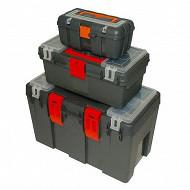 Gerex 3 boites outils plastique
