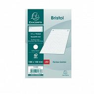 Exacompta - 50 fiches bristol perforées 100x150 5x5 force 8