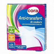 Cora lingette anti transfert de couleur x 24