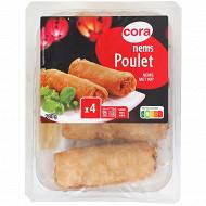 Cora 4 Nems poulet + sauce 280g