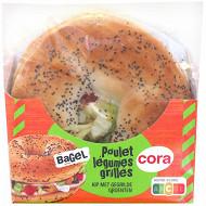 Cora bagel poulet crudites 145g