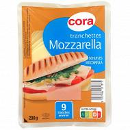 Cora 9 tranchettes de mozzarella 22.2% mg 200g