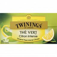 Twinings thé vert citron x25 50g