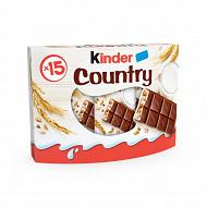 Kinder country pack de 15 barres 352g