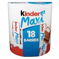 Kinder maxi pack de 18 barres 378g