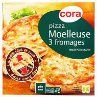 Cora pizza 3 fromages moelleuse 600g