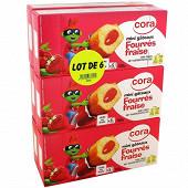 Cora kido mini goûters fourrés fraise lotx6 900g