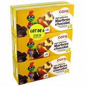 Cora kido mini goûters marbré lotx6 900g
