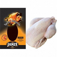 Janze poulet fermier prêt à cuire nu avec sac 1.4kg