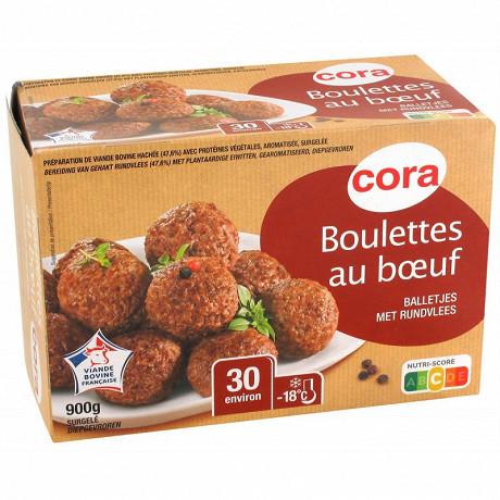 Cora environ 30 boulettes au boeuf 15% mg 900g