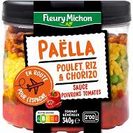 Fleury michon paella au poulet sauce poivrons tomates 340g