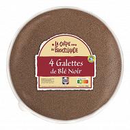 La crêpe de Brocéliande 4 galettes de blé noir france en sachet 260g