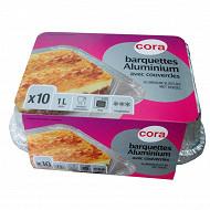 Cora barquettes x10 aluminium 1l plat