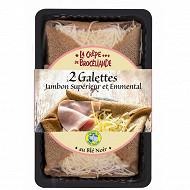 Galettes jambon supérieur et emmental 300g