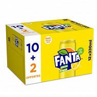 Fanta citron boite 12x33cl sleek 10+2