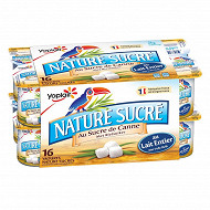 Yoplait yaourt ferme nature sucré 16x125g