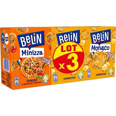 Belin Belin crakers 2 monaco + 1 minipizza x3 285g
