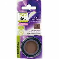 So'bio fard à paupières mono haute tolérance n°2 brun solaire bio