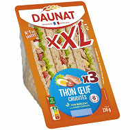 Daunat Sandwich club XXL thon crudités 230g