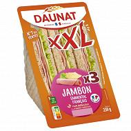 Daunat Sandwich club XXL jambon emmental 230g