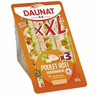 Daunat Sandwich club XXL poulet rôti mayonnaise 230g