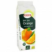 Cora pur jus d'orange brique 2l