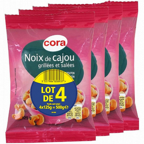 Cora noix de cajou 4x125g
