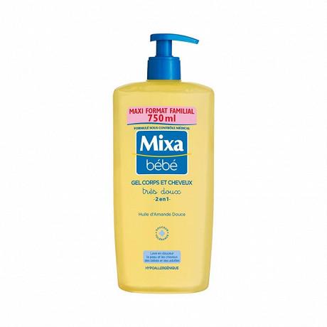 Mixa bébé gel très doux corps et cheveux 2 en 1 maxi format familial 750ml
