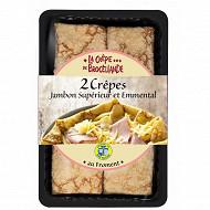 La Crêpe de Brocéliande crêpes jambon supérieur et emmental x2 280g