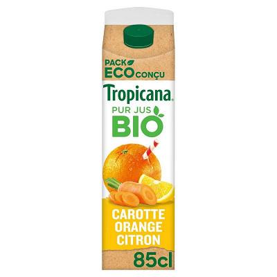 Tropicana Tropicana carotte orange bio brique 85cl
