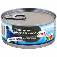 Cora thon au naturel pêché canne 1/5 112g