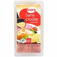 Cora raclette sans croûte tranches 400g