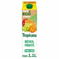 Tropicana Pure Premium réveil fruité 1l + 10% offert