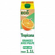Tropicana Pure Premium orange avec pulpe 1l + 10% offert