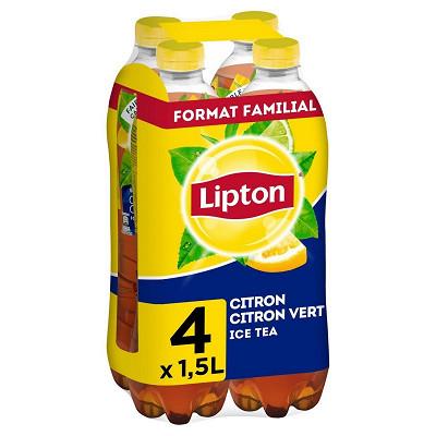 Lipton Lipton ice tea citron/ citron vert  4 x 1.5l