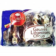 5 gaufres liégeoises choco 300 g
