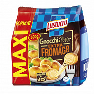 Lustucru Sélection Gnocchi à poeler extra fromage format maxi 500g