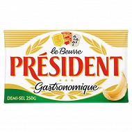 Président beurre gastronomique demi-sel plaquette 250g