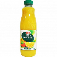 Cora 100% pur jus d'orange pet 1l
