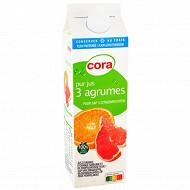 Cora pur jus 3 agrumes avec pulpe 100% fruit pressé 1l