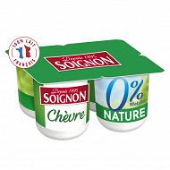 Soignon yaourt maigre au lait écrémé de chèvre 0% 4X125G