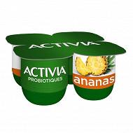 Activia bifidus fruit ananas 4x125g