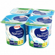 Cora yaourt nature 4 x 125g