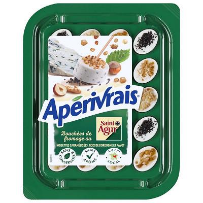 Apérivrais Apérivrais créations Saint Agur noisettes noix et pavot 33%mg 100g