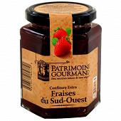 Patrimoine gourmand confiture extra fraises du sud-ouest 325g