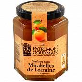Patrimoine gourmand confiture extra mirabelles de Lorraine 325g