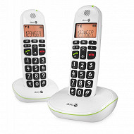 Doro Téléphone sans fil PHONEEASY 100W DUO BLANC