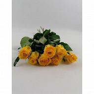 7 Roses 40 cm bouton 3.8 cm ton chaud