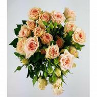 5 tiges roses branchues bouton de 3.80 cm