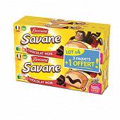 Brossard savane pocket chocolat noir 3 + 1 offert 756g